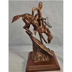 """Remington, Frederic bronze recast, The Mountain Man, 9"""" h x 6"""" w"""