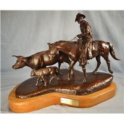Rains, Bill bronze  Late Spring , 30/50, 14  h x 17  l x 10  w