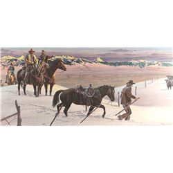 "Zabel, Larry, ""Late Gather on the Gravelly Range"", 469/500, 14"" h x 32"" w"