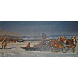"Glacier, Nancy, ""Winter Chores"", 103/195, 18"" h x 34"" w"