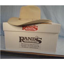 Rands custom-made  hat, 8X Beaver, 7 3/8, Roping Horse