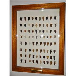 Tray of arrowheads/points, 80 pcs., SW Montana