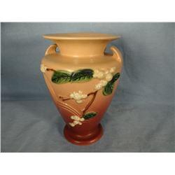 "Roseville Snowberry dusty rose vase, 8"", 1V2-8"