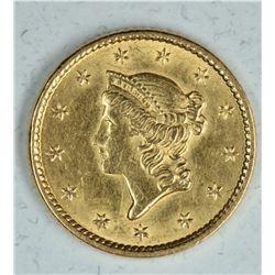 1852 $1 Gold Coronet BU