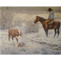 """Dahlen, Oris, """"So Far So Good"""", oil on canvas, 16"""" h x 20"""" w"""