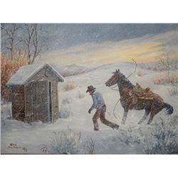 "Dahlen, Oris, ""No Time To Waste"", oil on canvas, 12"" h x 16"" w"