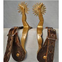 Buermann Hercules Bronze dble gal leg spurs