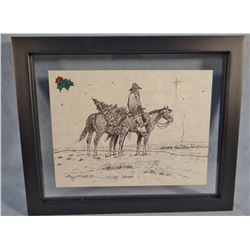 Cheek, C. R. Christmas card, 1990, 19/150, framed