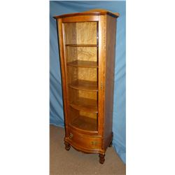 "Fancy oak curio cabinet 21"" w x"