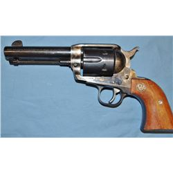 "Ruger Vaquero pistol,  .45 cal., 4.5"" bbl, std. grips, s# 56-90256, post-warning"