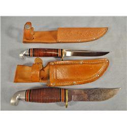 "2 Western knives, 4.5"" each, w/sheathswestern knives"