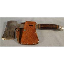 """Western hatchet, 6"""" w/sheath"""