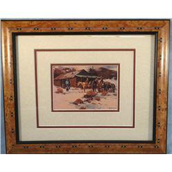 "Niblett, Gary CAA framed print, 5"" x 7"", Saying Hello, 1978"