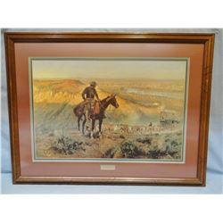 "Russell, C.M., Wagon Boss, framed print, 20"" x 30"""