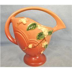 "Roseville Snowberry dusty rose basket, 8"", 1BK"
