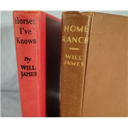 4 books by James, Will, Home Ranch and Horses I Have Known, both World Pub. Co.; Book of Cowboy Stor