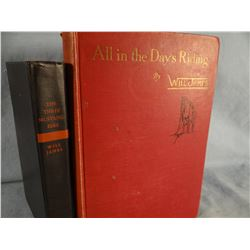 5 books by James, Will, All In A Day's Riding, 1945; Three Mustangeers, Forum Books, good; Will, All