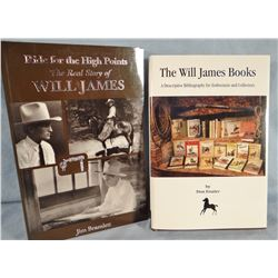 2 books, Frazier, Don, The Will James Books, 1998, dj, fine; Riding for The High Points, soft cover