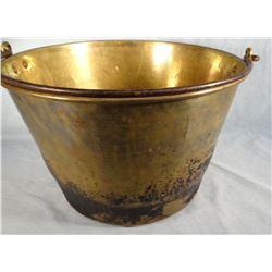 """2 Brass buckets, 15"""" w x 10"""" h and 13"""" w x 5"""" h"""