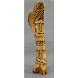 1880's carved bone Plains Indian statue