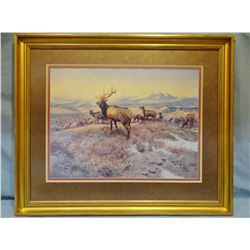 "Russell, C.M., The Exalted Ruler, framed print, 19"" x 25"""