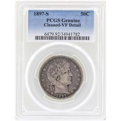 1897-S Barber Quarter Silver Coin PCGS VF Details
