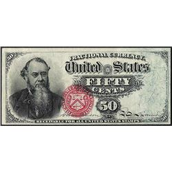 Fourth Issue 50 Cent Stanton Fractional Currency Note