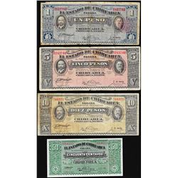 Lot of 1914-1915 El Estado de Chihuahua, Mexico Notes