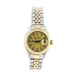 14KT Yellow Gold and Stainless Steel Ladies Rolex Oyster Perpetual Wristwatch