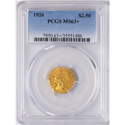 1926 $2 1/2 Indian Head Quarter Eagle Gold Coin PCGS MS63+