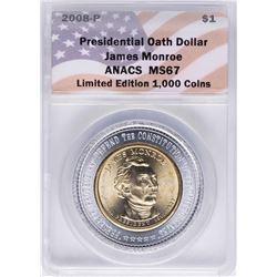2008-P Presidential Oath Dollar Coin ANACS MS67