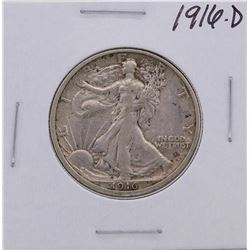 1916-D Walking Liberty Half Dollar Coin