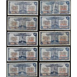 Lot of (10) 1915 Mexico Revolutionary Notes