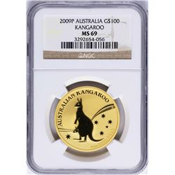 2009P $100 Australia Kangaroo Gold Coin NGC MS69