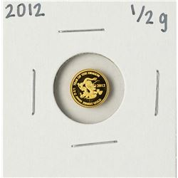 2012 Lao Peoples Democratic Republic 1/2 Gram Dragon Gold Coin