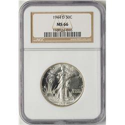 1944-D Walking Liberty Half Dollar Coin NGC MS66