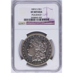 1893-S $1 Morgan Silver Dollar Coin NGC XF Details