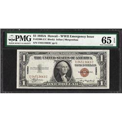 1935A $1 Hawaii Silver Certificate WWII Emergency Note PMG Gem 65EPQ