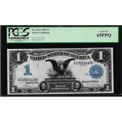 1899 $1 Black Eagle Silver Certificate Note Fr.226a PCGS Gem New 65PPQ