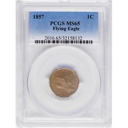 1857 Flying Eagle Cent Coin PCGS MS65