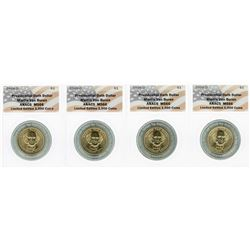 Lot of (4) 2008 Presidential Oath Dollar Coins ANACS MS66