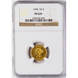 1904 $2 1/2 Proof Liberty Head Quarter Eagle Gold Coin NGC PF63+