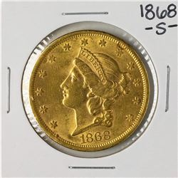 1868-S $20 Liberty Head Double Eagle Gold Coin