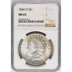 1884-O $1 Morgan Silver Dollar Coin NGC MS63 Amazing Toning