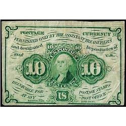July 17, 1862 Ten Cents First Issue Fractional Currency Note
