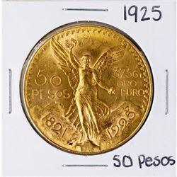 1925 Mexico 50 Pesos Oro Puro Gold Coin