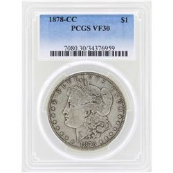 1878-CC $1 Morgan Silver Dollar Coin PCGS VF30