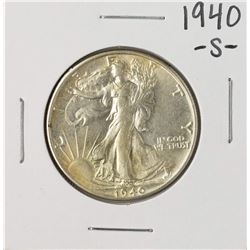 1940-S Walking Liberty Half Dollar Coin