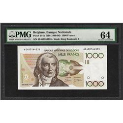 1980-96 Banque Nationale Belgium 1000 Francs Note Pick# 144a PMG Choice Unc. 64