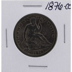 1876-CC Seated Liberty Half Dollar Coin